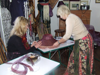Jane Hamill Millinery Workshop,  Kilkea Lodge Farm Bed & Breakfast,  Castledermot,  Co. Kildare, Ireland