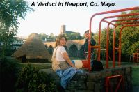A Viaduct overlooking childrens playarea in Newport, Co. Mayo.